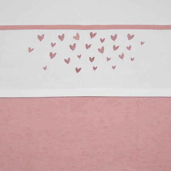 Meyco Hearts Ledikantlaken - 100x150 cm - oudroze