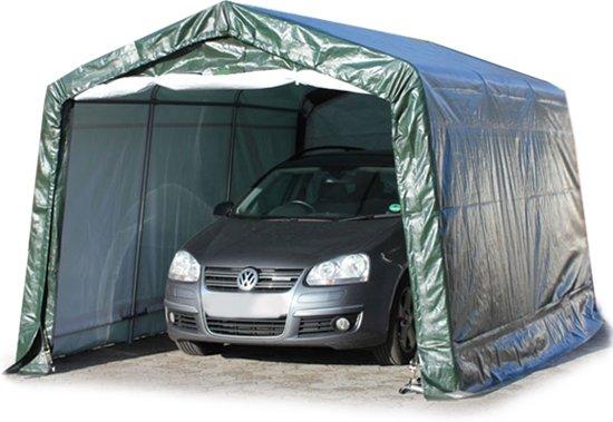 garagetent auto tent 3 3x4 8m donkergroen. Black Bedroom Furniture Sets. Home Design Ideas