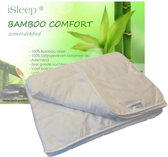 iSleep Zomerdekbed Bamboo Comfort - Eenpersoons - 140x200 - Wit