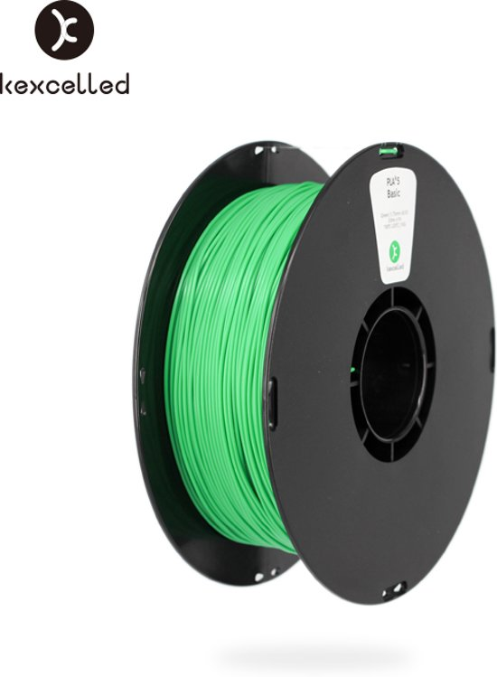 kexcelled-PLA-1.75mm-groen/green-1kg*5=5kg(5000g)-3d printing