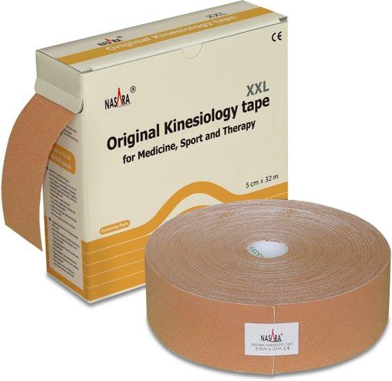 Nasara kinesio tape - Beige | Extra voordelige grote rol | 32 meter