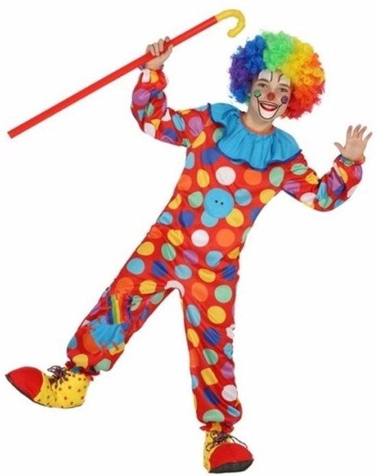 Clown Dots kostuum / outfit voor jongens - verkleedpak 116 (5-6 jaar)