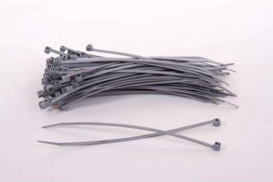 1000 stuks Grijze kabelbinders 3.6mm x 140 mm (099.0418)