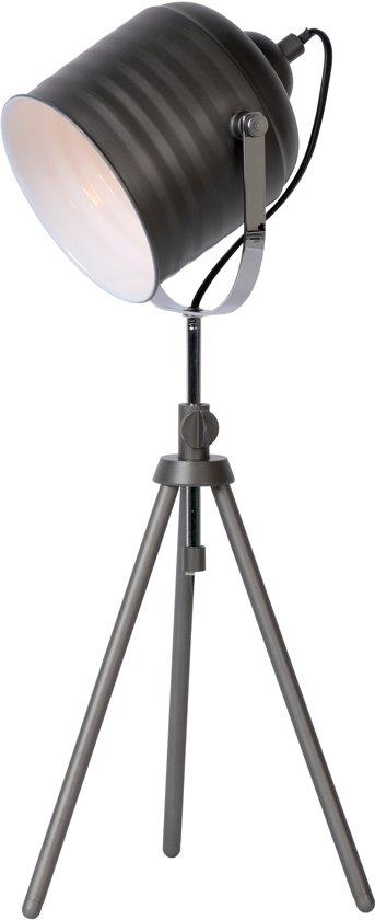 Lucide STUDIO - Tafellamp - Ø 22,5 cm - Grijs ijzer