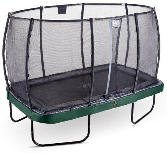 EXIT Elegant Premium trampoline 244x427cm met veiligheidsnet Economy - groen