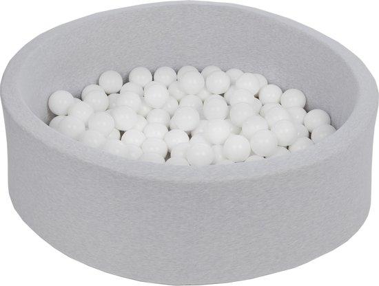 Zachte Jersey baby kinderen Ballenbak met 150 ballen,  - Witte