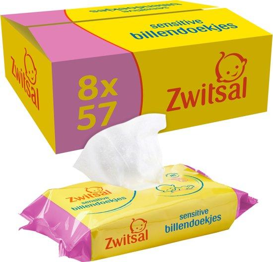 Zwitsal Billendoekjes Sensitive - 456 stuks - Voordeelverpakking