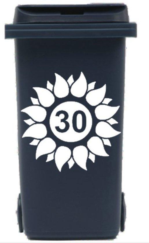 Uitzonderlijk bol.com | Sticker zonnebloem voor afvalcontainer / kliko met HK09