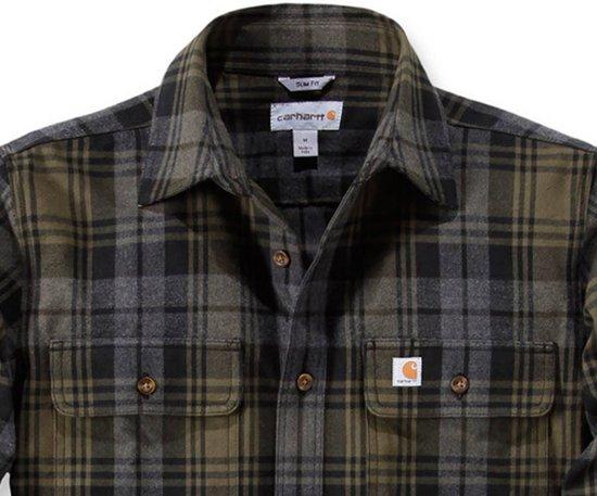 Shirt Carhartt Slim Hubbard Flannel Heren Fit Moss xIZIBwRqg