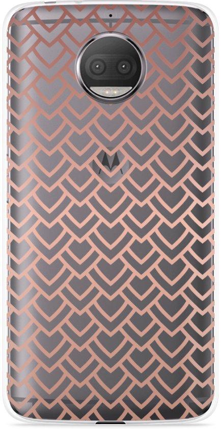 Motorola Moto G5S Plus Hoesje Pink Pattern