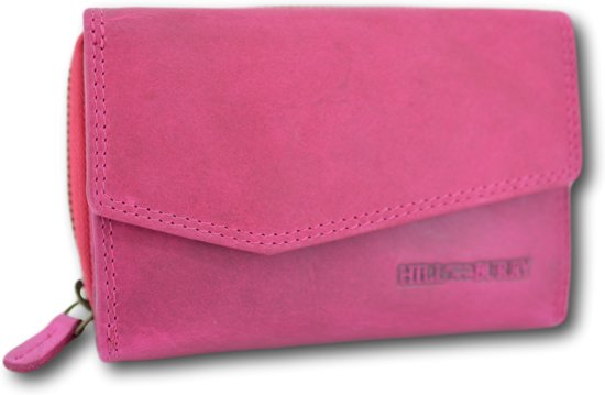 Hillburry - VL77703 - 13092 - roze- rits - portemonnee - vintage leder