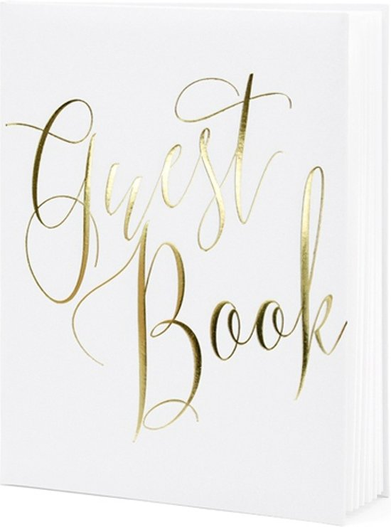 Gastenboek White & Gold Valentinaa
