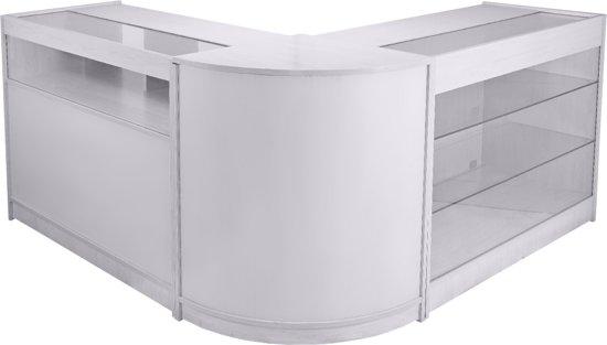 Uitgelezene bol.com   Toonbank – Kassa – Balie – Toog – Bar – Wit – Glazen OV-98