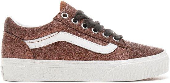 b62f0dab2dd Vans Old Skool Glitter Sneakers - Maat 32 - Unisex - bruin ... - bol.com