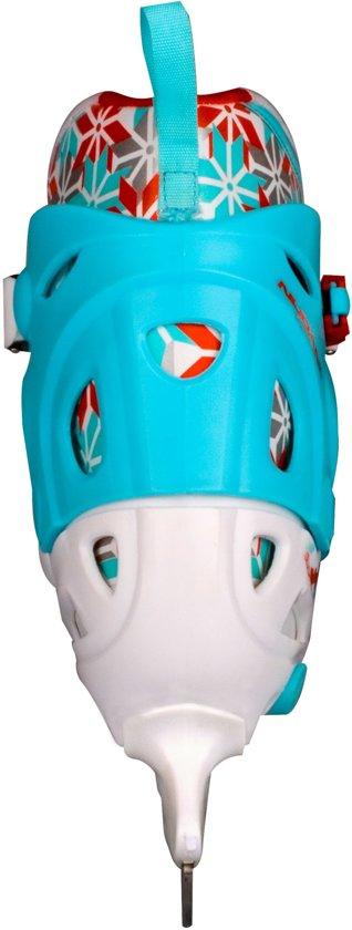 Nijdam 3008 Junior Kunstschaats - Verstelbaar - Hardboot - Wit/Blauw - Maat 34-37
