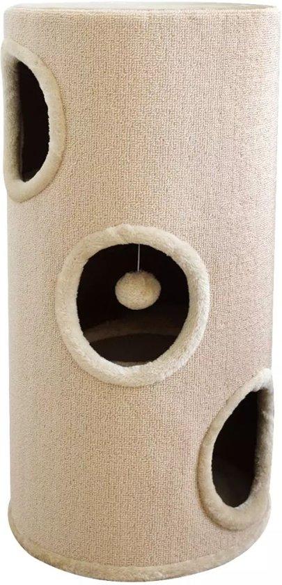 vidaXL Kattenhuis/krabpaal beige 70 cm