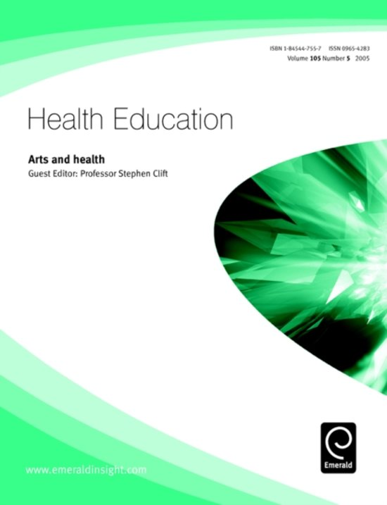 Boek cover Arts and Health van  (Paperback)