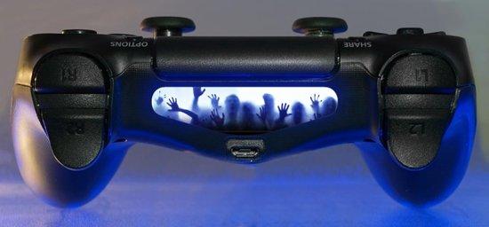 the walking dead light bar zombies sticker ps4 controller skin games. Black Bedroom Furniture Sets. Home Design Ideas