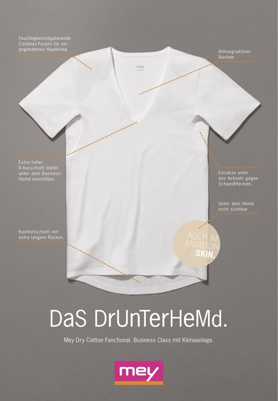 Mey Mey business T-Shirt Dry Cotton Functional (46038)