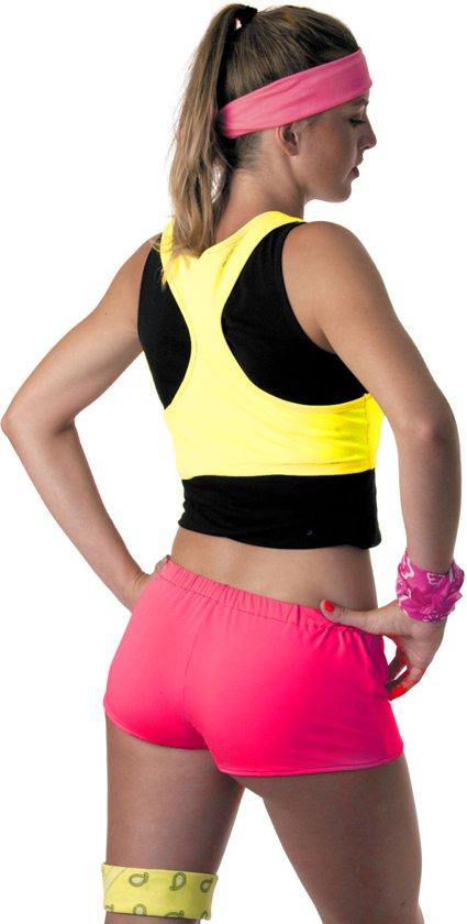 Fluo roze shorty voor vrouwen - Volwassenen kostuums
