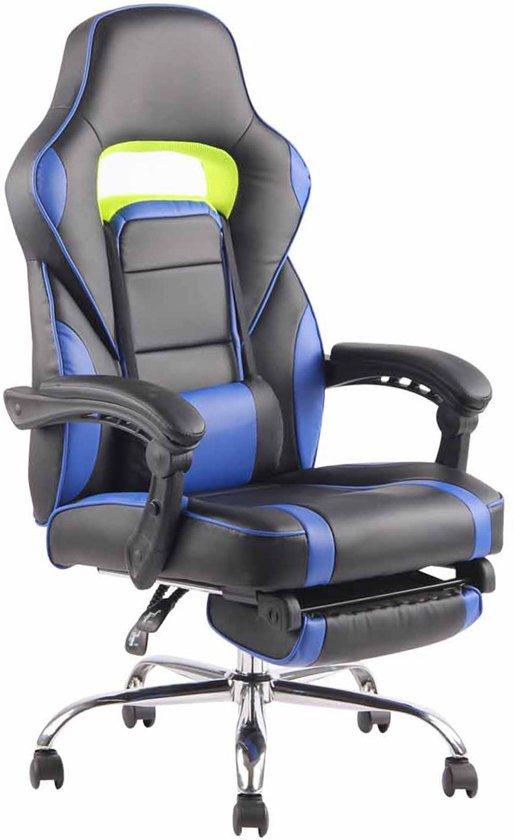 Clp Fuel - bureaustoel - kunstleer - zwart/blauw