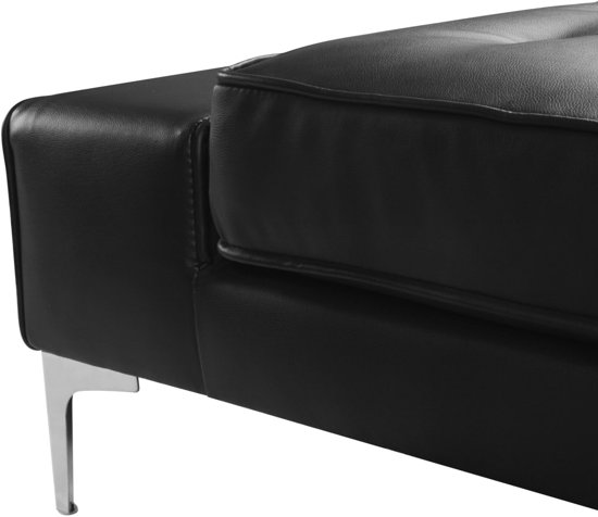 vidaXL Hoekbank kunstleer zwart XXL 326x163x83 cm