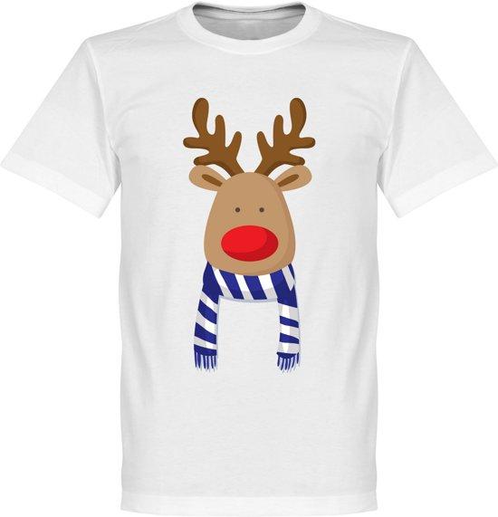 Reindeer Supporter T-Shirt - Blauw/Wit - Kinderen - 128