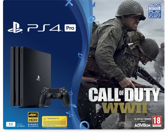 Sony PlayStation 4 Pro 1TB Console + Call of Duty WWII - PS4 Zwart kopen