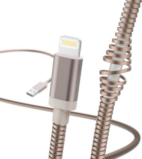 """Hama Oplaad-/gegevenskabel """"Metall"""", Lightning, 1,5 m, roségoud"""