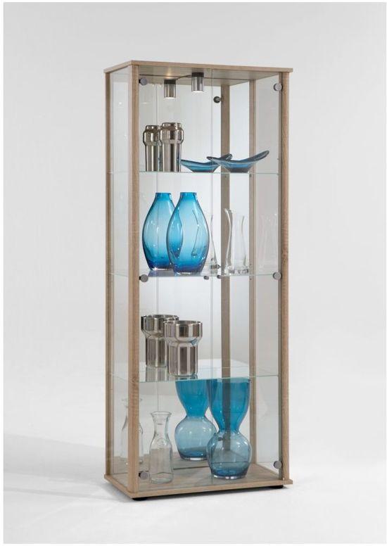Glazen Vitrinekast Met Licht.Woonexpress Kraloo Vitrinekast Naturel Glas