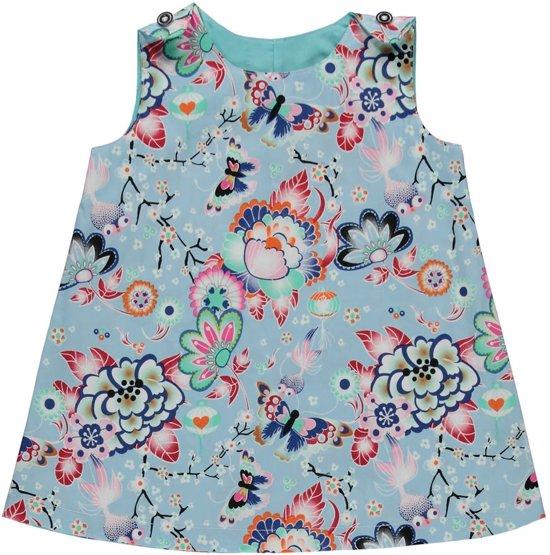 Babykleding Print.Bol Com Melkofpuur Babykleding Zomerjurkje Blauw Met Chinese