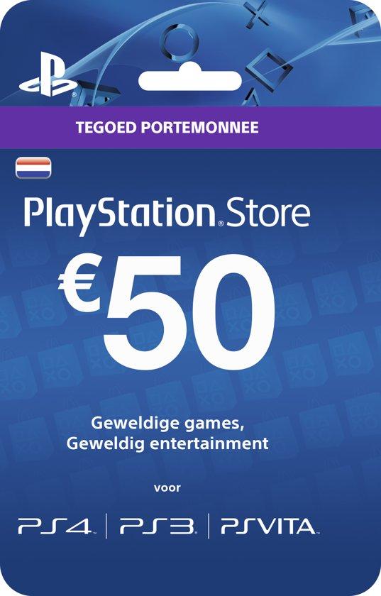 6ff07618bd8ea3 bol.com | Nederlands Sony PlayStation Network PSN Giftcard Kaart 50 Euro  Nederland - PS4 + PS3 +.