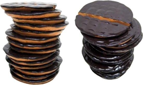 Spaarpot chocolade koekjes 12cm