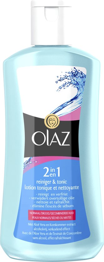 Olaz Essentials - 200ml - 2-in-1 Reiniger en Tonic