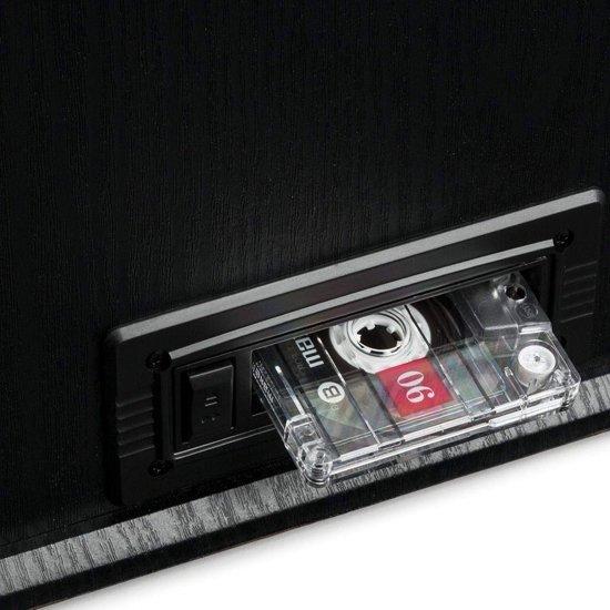 Auna NR-620 Retro Platenspeler 6 in 1 Zwart