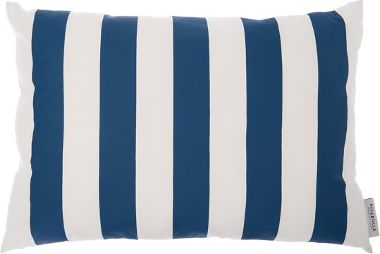 Riverdale Stripe - Kussen - 50x70cm - wit/blauw