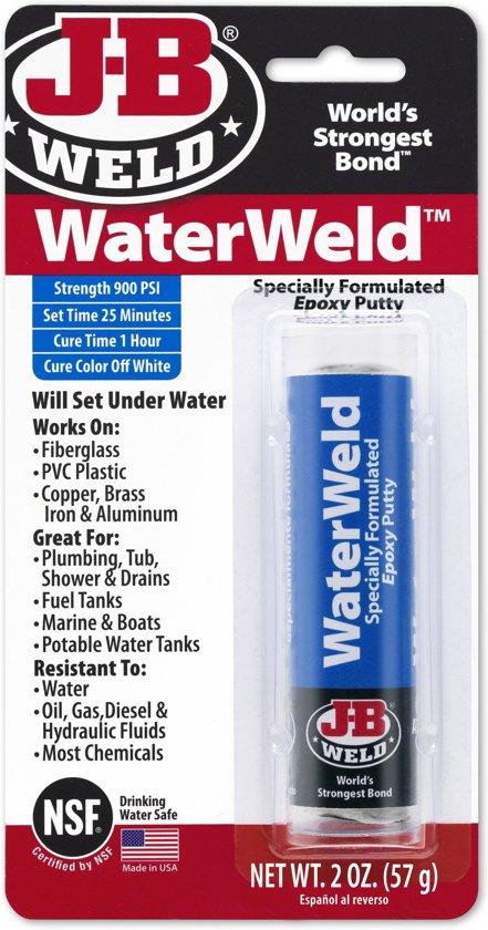 JB-Waterweld 8277 hechting en uitharding zelfs onder water