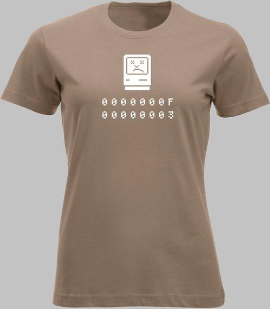 T-shirt V Help, mijn Apple is gecrasht! - Cafelatte - V - XXL Sportshirt