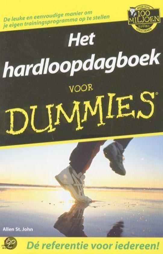 Cover van het boek 'Hardloopdagboek voor dummies' van  StJohn en A. StJohn
