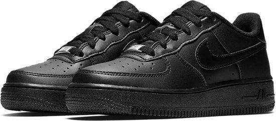 Nike Air Force 1 (GS) Sneakers Kinderen - Black/Black-Black