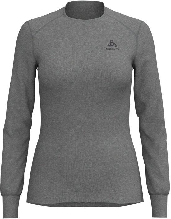 Odlo Bl Top Crew Neck L/S Active Warm Dames Thermoshirt - Grey Melange - Maat XL
