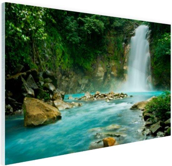 Rio Celeste waterval Glas 30x20 cm - klein - Foto print op Glas (Plexiglas wanddecoratie)