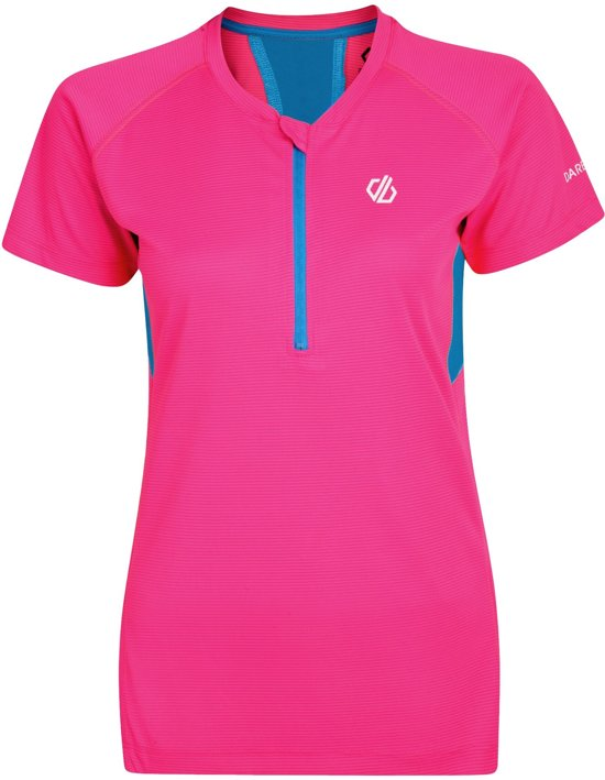 Dare 2b-Tribe Jersey-Fietsshirt-Vrouwen-MAAT XS-Roze