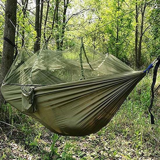 Hangmat Twee Personen.Jungle Hangmat Met Muggennet 2 Personen 300kg Draagbaar Outdoor Wandelen Camping Natuur