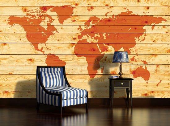 Orange Photomural, wallcovering