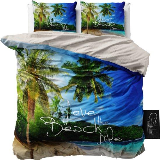 Sleeptime Beach Life - Dekbedovertrekset - Lits-Jumeaux - 240x200/220 cm + 2 kussenslopen 60x70 cm - Blauw