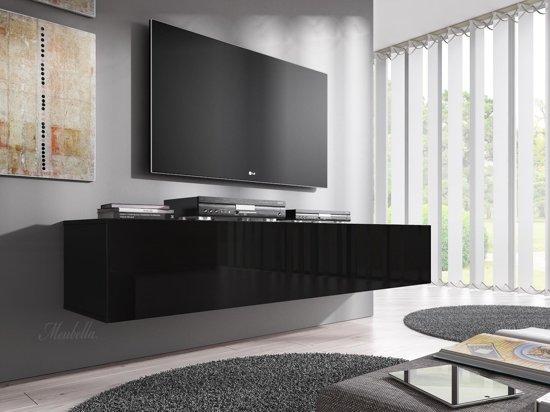 Meubella Tv Meubel Flame Zwart 160 Cm