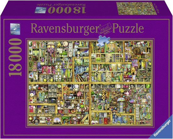 Ravensburger puzzel Colin Thompson Magical bookcase - Legpuzzel - 18000 stukjes