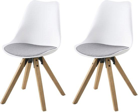 Licht Grijze Stoel : Bol.com 24designs set 2 stoelen dex zitting lichtgrijze stof