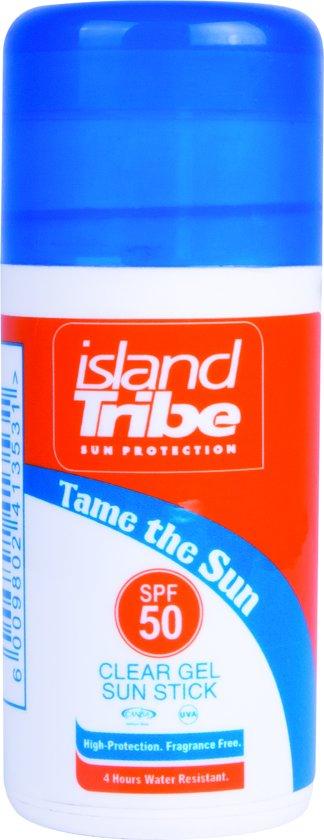 island Tribe SPF 50 clear gel sun stick 30 gr oxybenzone vrij.